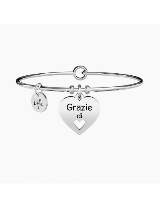 KIDULT - BRACCIALE LOVE GRAZIE DI CUORE - 731298