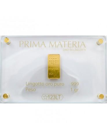 PRIMA MATERIA - LINGOTTINO IN ORO