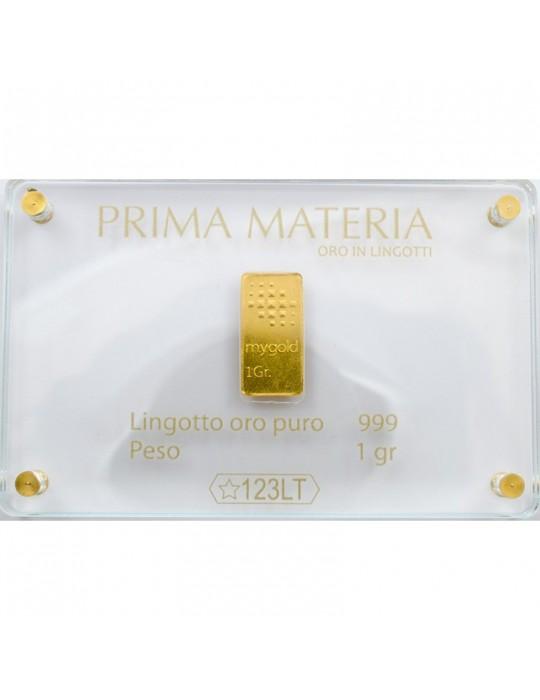 PRIMA MATERIA - LINGOTTINO IN ORO - PMG1GR