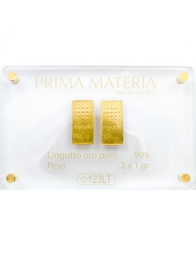 PRIMA MATERIA - LINGOTTINI IN ORO - PMG2GR