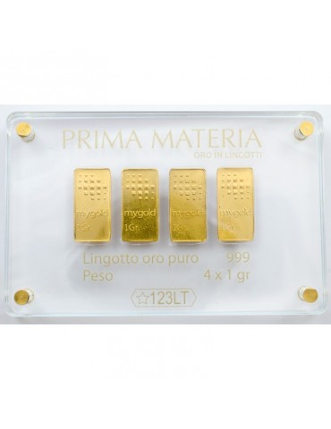 PRIMA MATERIA - LINGOTTINI IN ORO - PMG4GR