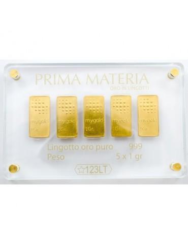 PRIMA MATERIA - LINGOTTINI IN ORO - PMG5GR