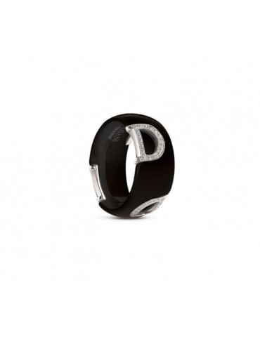 Damiani - Anello In Ceramica Nero Dicon - 20045898