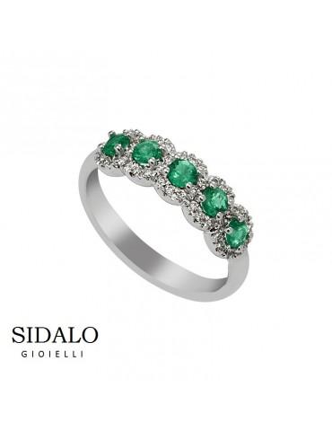 Sidalo - Anello Oro E Smeraldi
