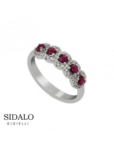 Sidalo - Anello Oro E Rubini - € 1280