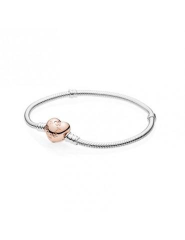 Pandora - Bracciale Con Chiusura A Cuore Rosè