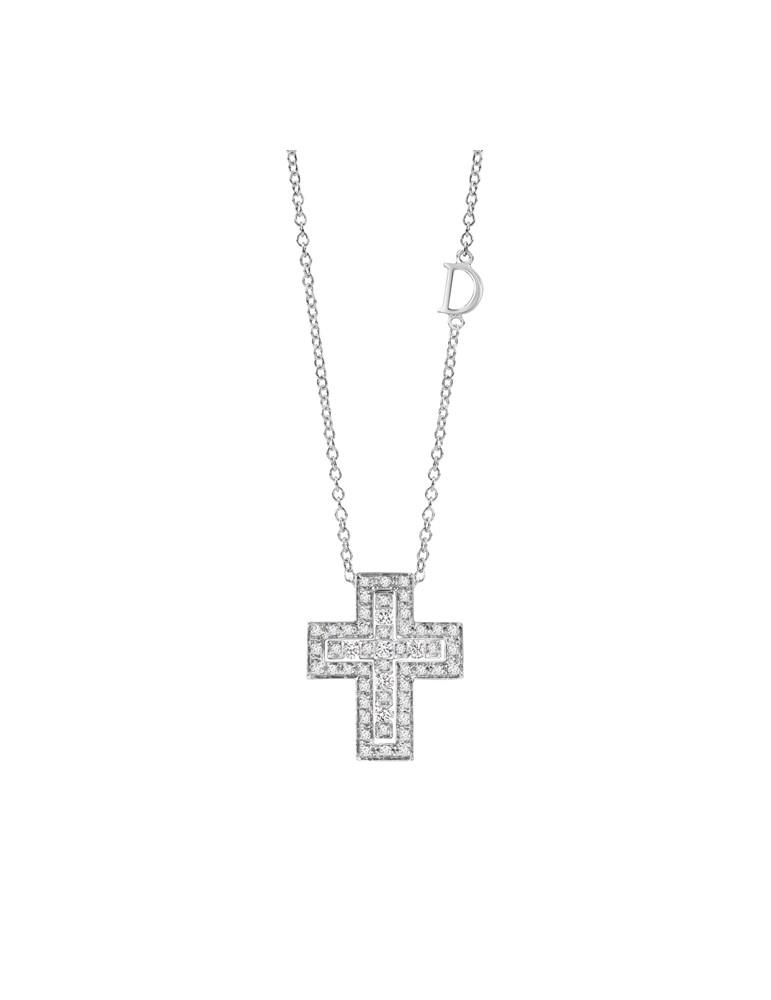 foto ufficiali b2f84 d6d99 Damiani - collana con croce della collezione Belle Epoque