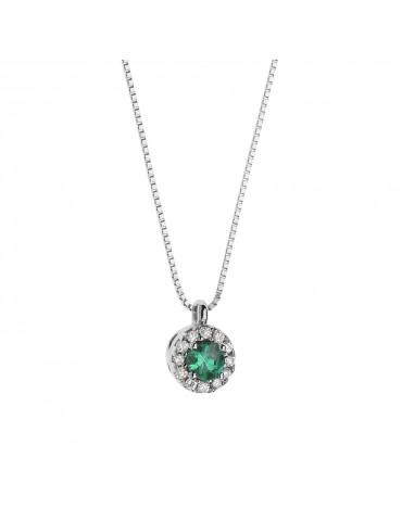 Comete - Girocollo Oro Fantasia Di Colore Smeraldo