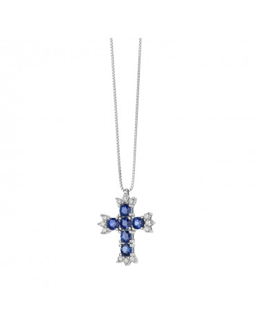 Comete - Girocollo Croce Zaffiro Principessa