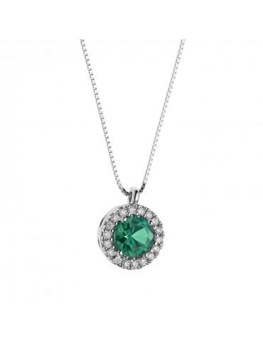 Comete - Girocollo Fantasia Di Colore Con Smeraldo