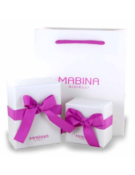 MABINA - ORECCHINI A CERCHIO CON ZIRCONI - 563027