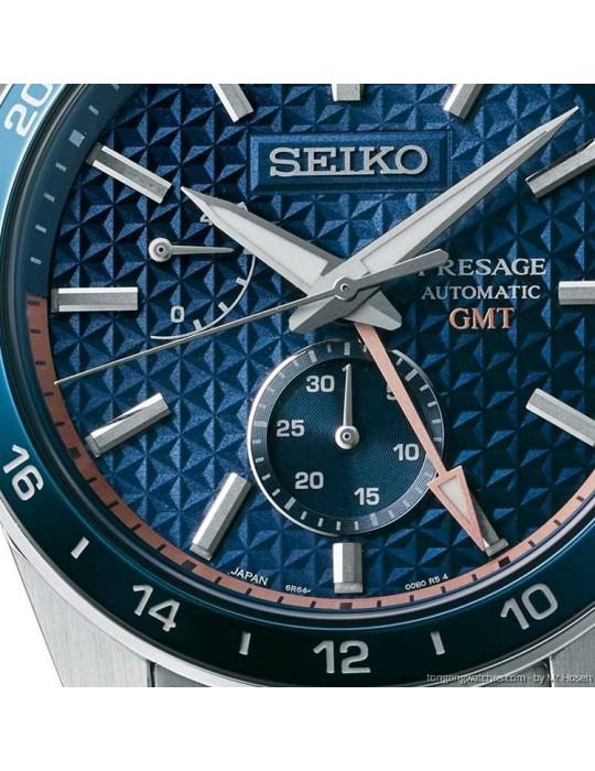 SEIKO -  PRESAGE SHARP EDGED GMT BLUE - SPB217J1